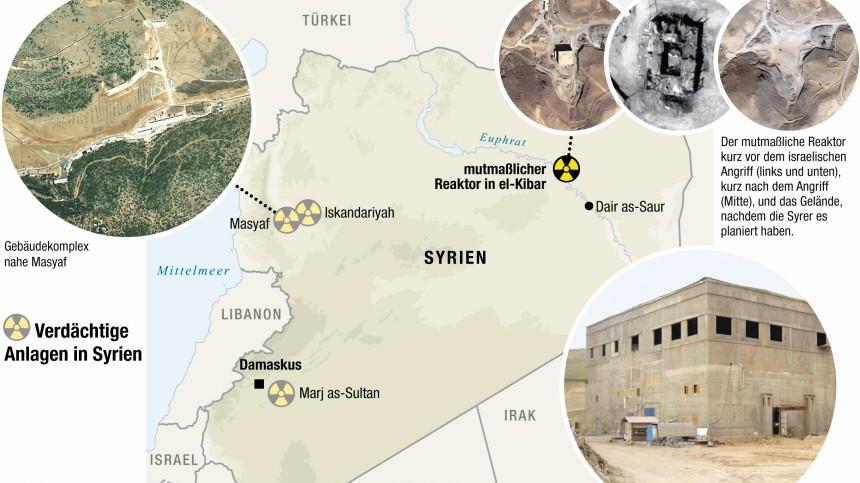 Syrien, Reaktor, Al Kibar, mit Fotos