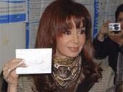 Cristina Fernandez Kircher in Argentinien, Wahl, AP