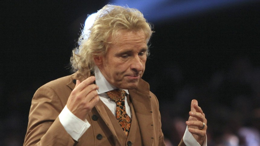 German TV host Gottschalk  tells audience that the live-broadcast of 'Wetten Dass' will be suspended in Duesseldorf