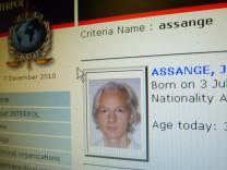 Julian Assange Fahndungsanzeige