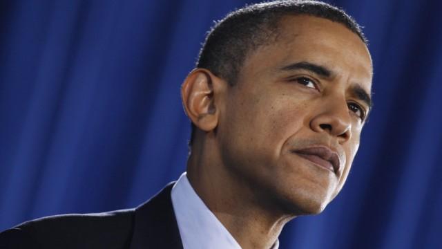 U.S. President Barack Obama speaks to workers at Forsyth Technical Community College in Winston-Salem