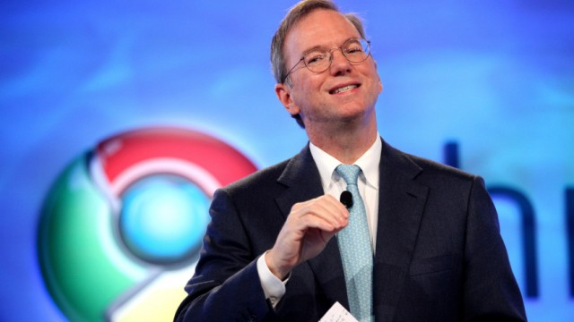 Google CEO Eric Schmidt speaks during the company's Chrome event in San Francisco