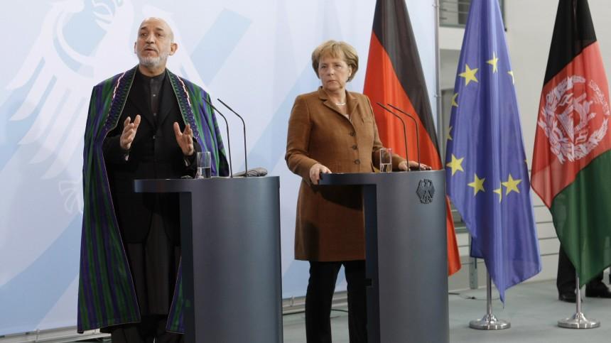 Angela Merkel, Hamid Karzai