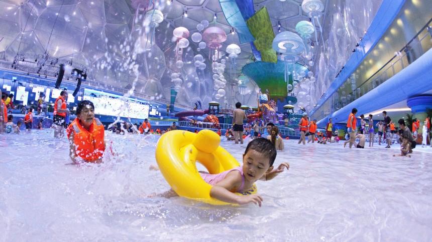 ?Water Cube? der Olympische Spiele als Freizeitzentrum eingeweiht