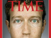 Time magazine December 27, 2010/January 3, 2011 cover featuring Mark Zuckerberg