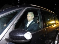 WikiLeaks founder Julian Assange arrives at Ellingham Hall in Norfolk