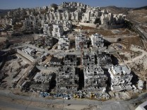 Houses under construction are seen in a Jewish settlement near Jerusalem