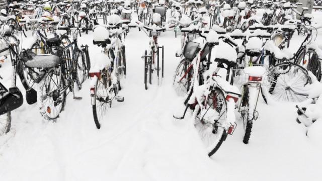 Fahrrad, Winter, Radl, Radfahren