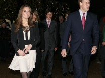 Prince William and Catherine Middleton attend a Christmas Spectacular