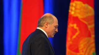 Belarussian President Alexander Lukashenko speaks during a press