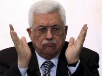 Palästinenser-Präsident Abbas Israel