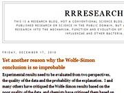 Rosie Redfield Blog