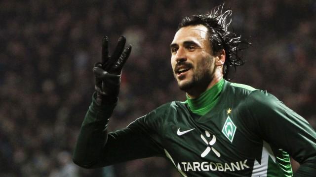 Werder Bremen's Almeida celebrates goal against FC St Pauli during German Bundesliga soccer match  in Bremen