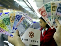Euro- und chinesische Yuan-Banknoten