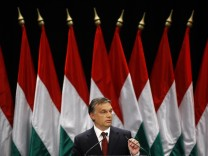 Hungary's Prime Minister Orban announces measures to help the government meet its budget deficit targets in Budapest