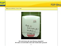 Hacker kapern FDP-Shop im Internet