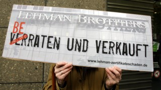 Lehmann Brothers-Anleger demonstrieren
