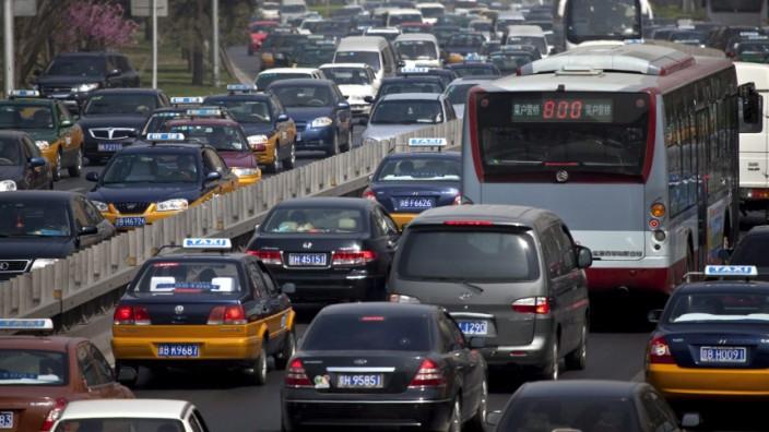 Peking, China, Auto, Stau, Automarkt China