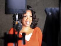Undated publicity photo of Oprah Winfrey during an episode of 'Master Class' from the new Oprah Winfrey Network