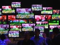 Fernseher Flachbild Bildschirm TV-Gerät Plasma LCD LED