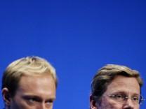 Parteichef Guido Westerwelle und FDP-Generalsekretär Christian Lindner