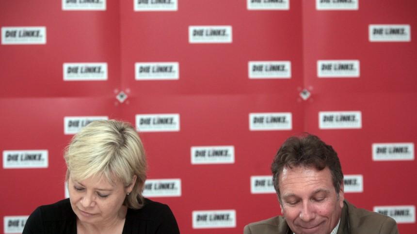 Linke-Vorsitzende Lötzsch und Ernst