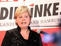 Landesparteitag der Linken in Hamburg Gesine Lötzsch Kommunismus