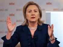 US Secretary of State Hillary Rodham Clinton