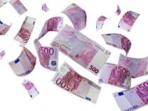 Fligende Euro-Scheine