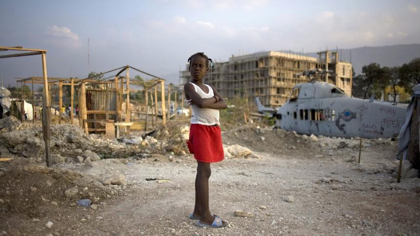 Leben in Flüchtlingslager in Port-au-Prince