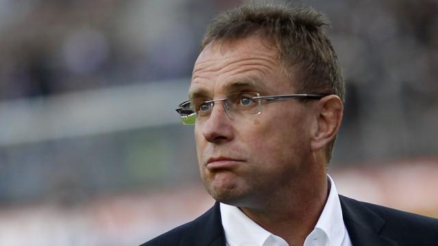 File photo of TSG Hoffenheim's coach Rangnick looking on before the German Bundesliga soccer match against FC St. Pauli in Hamburg