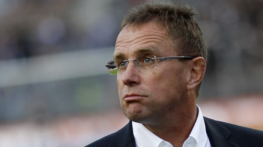 File photo of TSG Hoffenheim's coach Rangnick looking on before the German Bundesliga soccer match against FC St. Pauli in Hamburg