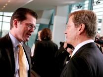 Kabinett - Guttenberg und Westerwelle