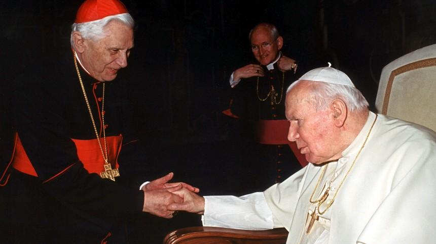 Joseph Ratzinger und Papst Johannes Paul II., 2002