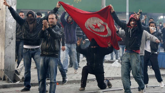Protest in Tunis