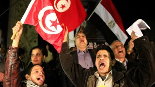 Egyptians gather in support to Tunisia latest events