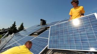 Montage einer Solaranlage