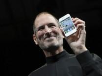 Steve Jobs bei einer Präsentation in San Francisco im Juni 2010