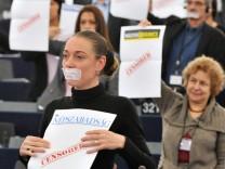 FRANCE-EU-HUNGARY-POLITICS-MEDIA-LAW-PROTEST
