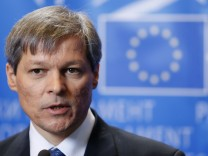 European Agriculture and Rural Development Commissioner-designate Ciolos of Romania answers reporters' questions after his hearing before the European Parliament in Brussels