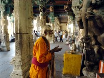 INDIA-RELIGION-MEENAKSHI TEMPLE-SADHU