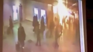 Still image of an explosion at Moscow's Domodedovo airport