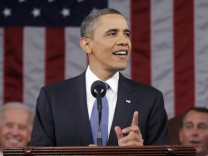 President Barack Obama delivers his State of the Union address on Capitol Hill in Washington
