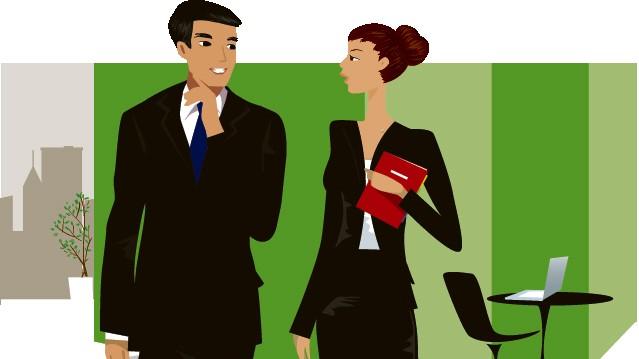 Smalltalk Small Talk Gespräch Büro Kollegen Grafik