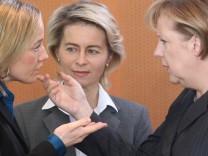 Schröder Merkel von der Leyen Familienpolitik cdu