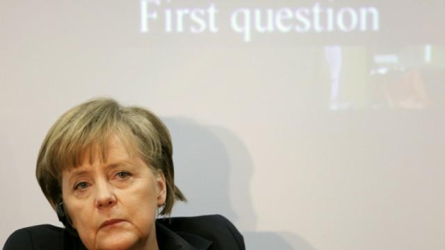 German Chancellor Angela Merkel Receives Honorary Doctorate In Tel Aviv