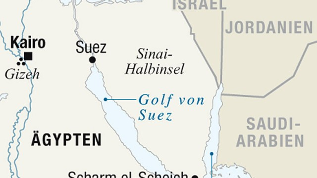 Touristenorte Ägypten Karte