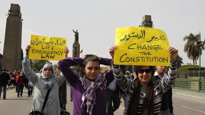 Tahrir-Platz Mubarak Demonstrantinnen