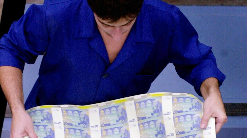 Zentrale Druckerei in Portugal bei Euro-Banknoten-Druck