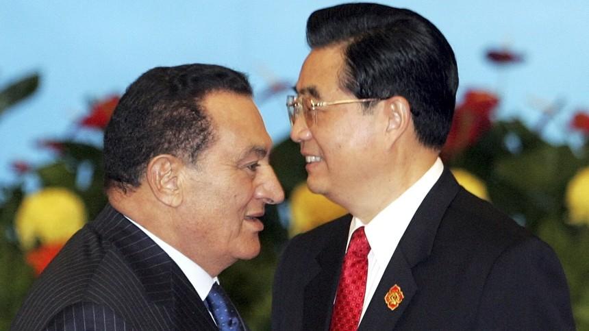 Hu Jintao and Mubarak